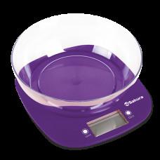 Весы кухонные SAKURA SA-6078P 7кг фиолетовые