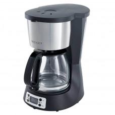 Кофеварка DELTA LUX DE-2000 черная 1000Вт, таймер, 1,5л, LED дисплей