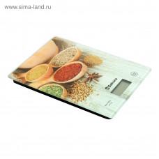 Весы кухон SA-6077WS 8кг элек специи светлая