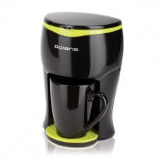 Кофеварка POLARIS РСМ 0109 черный/салатовый