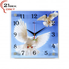 """2525-648 Часы настенные """"Голуби в полете"""""""
