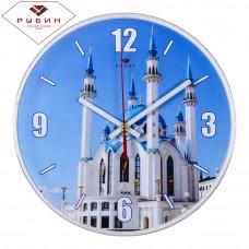 """2524-140 Часы настенные основание белое """"Мечеть"""" круг d=25см"""