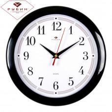 """2323-295 Часы настенные круг d=23см , корпус черный """"Классика"""""""