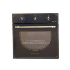 Электрошкаф De Luxe 6006.03ЭШВ-008 черная, ручки золото
