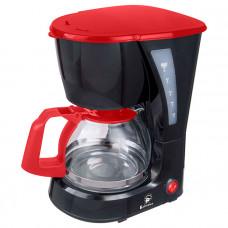 Кофеварка Василиса КВ1-600 черный с красным 600Вт, 600мл