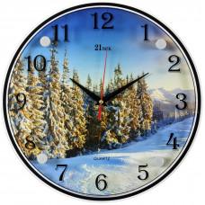 "3030-1113 Часы настенные ""Зимний лес"""