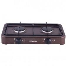 Газ. плита Аксинья двухконфорочная КС-102 коричневый