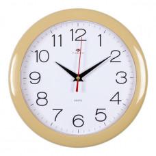 """2323-308 Часы настенные d=23см корпус бежевый """"Классика"""""""