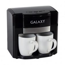 Кофеварка капельная Galaxy GL0708, черная, 750Вт, объем 0,3л (2 чашки)