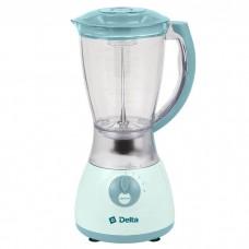 Блендер Дельта DL-7310 с кофемолкой серо-голубой 350Вт, 1,5л чаша
