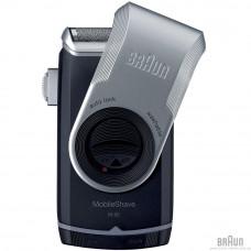 Бритва сетчатая Braun MobileShave M-90 серебристый