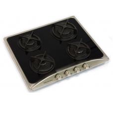 Плита панель De Luxe5940.01ГСВ-004 черный матовый ручки и рамка нерж