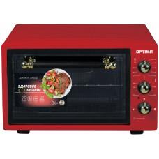 Духовка электр OPTIMA OF-36RR 36л 1300Вт красный, таймер, лампа, противень 2шт