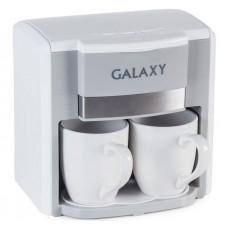 Кофеварка капельная Galaxy GL0708, белая, 750Вт, объем 0,3л (2 чашки)