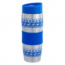 Термокружка вакуумная Alpenkok нерж АК-04023А Олени 400мл синий