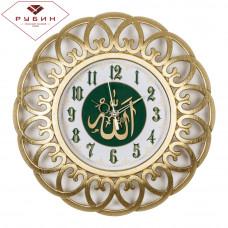 """3016-003 Часы настенные корпус золотой """"Молитва"""""""
