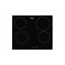 Варочная панель газовая Oasis P-SB, 580*510*50мм, материал поверхности стеклокерамика, цвет черный, тип управления сенсорный, таймер, мощность горелок 1200/1800/2200