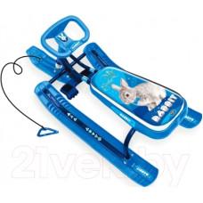 Снегокат Тимка спорт 2-с кроликом синий каркас