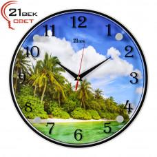 """3030-361 Часы настенные """"Тропический остров"""""""