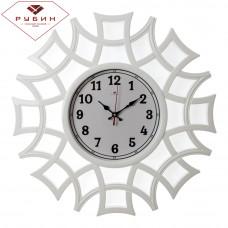 "4945-100 Часы настенные круг ажур ""Классика"" белые"