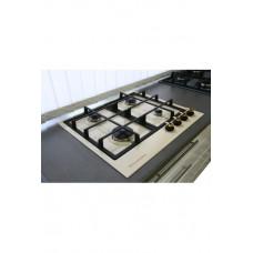 плита панель газовая De Luxe TG4_750231F-022 топленое молоко, ручки золото