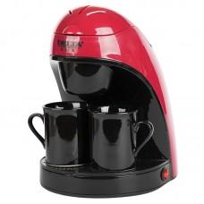 Кофеварка DELTA LUX DL-8132 красный с черным 450Вт