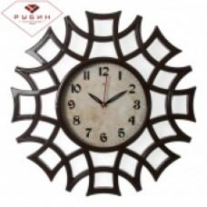 "4945-101 Часы настенные круг ажур ""Классика"" корич"
