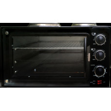 Духовка электр SA-7015НВК 2950Вт 32л 2 конф черная