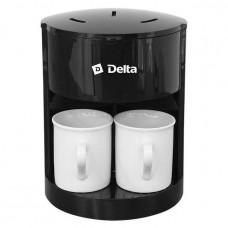 Кофеварка DELTA DL-8160 черная 250Вт 2чашки