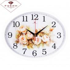 "2720-108 Часы настенные овал ""Цветы, пастель"""