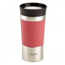 Термокружка вакуумная Alpenkok нерж АК-04039А розовый 400мл