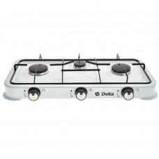 Газ плита ДЕЛЬТА D-2207 трехконфорочная белый