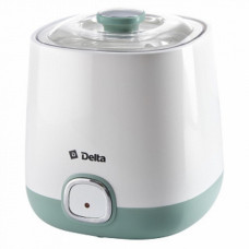 Йогуртница DELTA DL-8400 20Вт электрическая, объем контейнера 1л белый с серо-зеленым