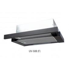 Вытяжка кухонная Oasis UV-50B, цвет черный, ширина 500мм, мощность двигателя 190 ВТ, воздушный поток 500 м^3/ч,2 стандартные лампы, 2 аллюминиевых фильтра, управление тумблер