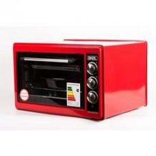 Духовка AKEL AF-740 красная 36л, гриль, терморегулятор, таймер, ТЭН повышенной мощности, 2 противня