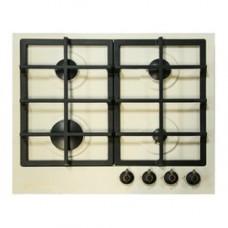 плита панель газовая De Luxe TG4_750231F-023 топленое молоко, ручки латунь