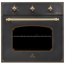 Электрошкаф De Luxe 6006.03ЭШВ-061 черная матовая ручки латунь