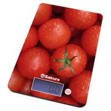 Весы кухон SA-6075Т 8кг элек томаты