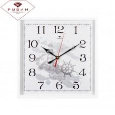 3028-129 Часы настенные Морские с белой рамкой