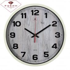 3027-16 Часы настенные корпус слоновая кость d=30см эко