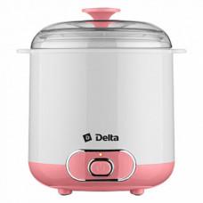 Йогуртница DELTA DL-8401 20Вт электрическая, объем контейнера 1,5л белый с розовым